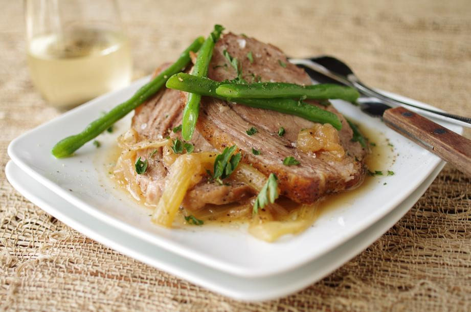 Sherry-braised pork shoulder.
